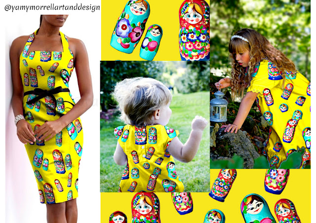 Yellow-Pattern-Matrioskas-design-by-yamy-morrell