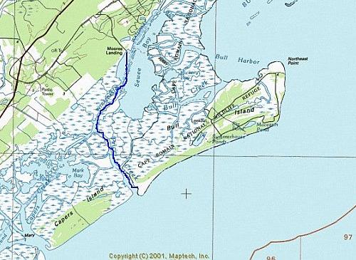 Bull Island SC Map