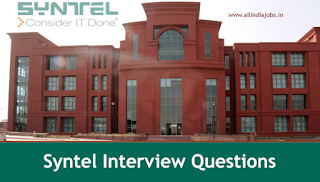 Syntel Interview Questions