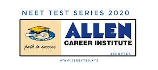 ALLEN NEET 2020  Test Series PDF [Direct Link]
