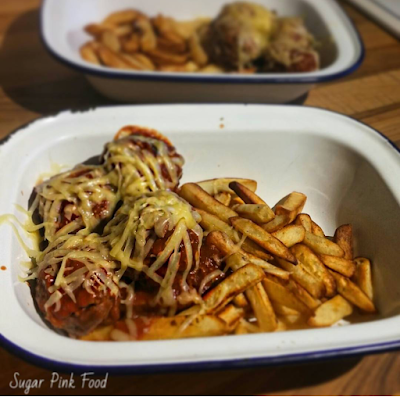 BBQ Meatball Topped Fries | Healthy Recipe