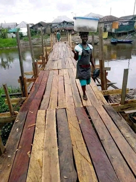 NDDC probe: Reconstruction of Imiringi Bridge, community Says Akpabio lied..Photos
