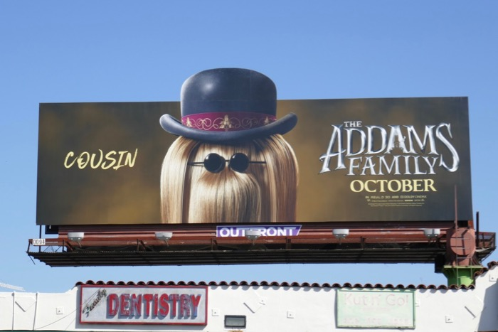 Addams Family Cousin Itt extension cut-out billboard