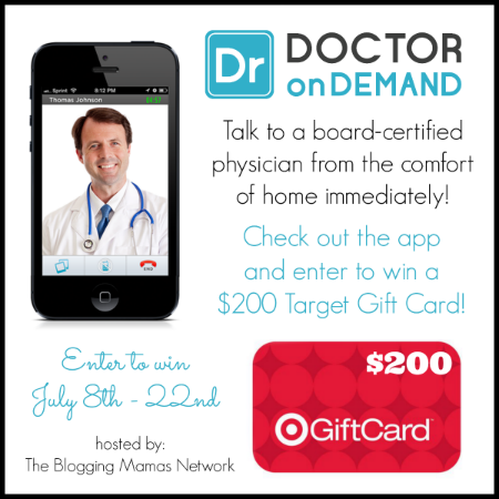 Enter the Doctor on Demand Target GC Giveaway. Ends 7/22.