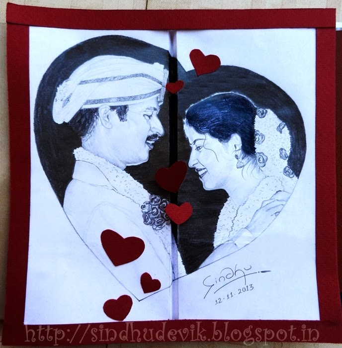 Wedding Memories - A collage Work with Pencil Sketch