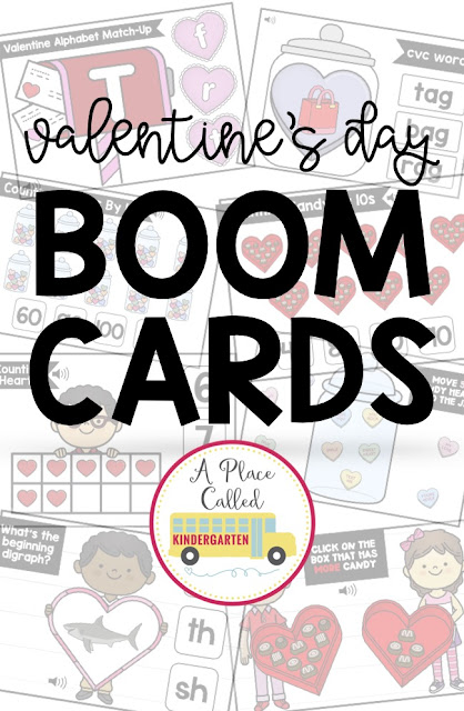 Math and ELA Valentine's Day Boom Cards are perfect for early childhood, Kindergarten or first grade to use during literacy or math centers, stations, rotations or post-assessment. The bundle of Valentine Boom cards includes FREE sets. They can be used for face to face, virtual or remote learning for early elementary students. Students will love these self checking activities. Click to learn more about Boom Learning and Boom Cards. (preK, Kindergarten, homeschool, 1st grade) #kindergarten