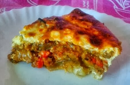 moussaka con pimientos receta casera