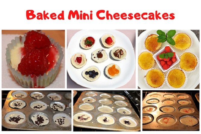 these are mini cheesecakes baked in cupcakes tins