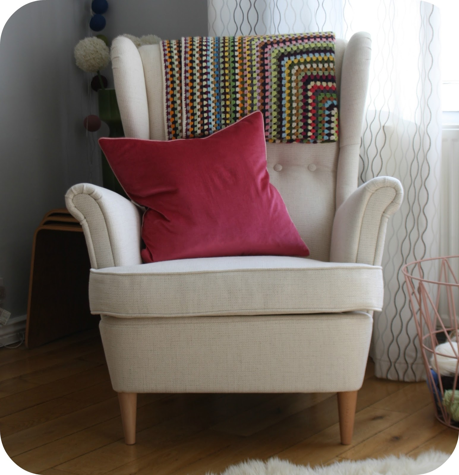 strandmon wing chair review guest office chairs tales from a happy house just right wednesday 12 march 2014