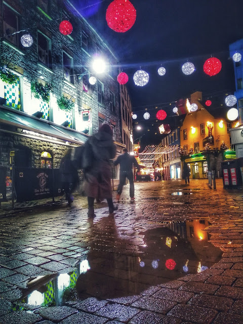 Galway city at night, Christmas time