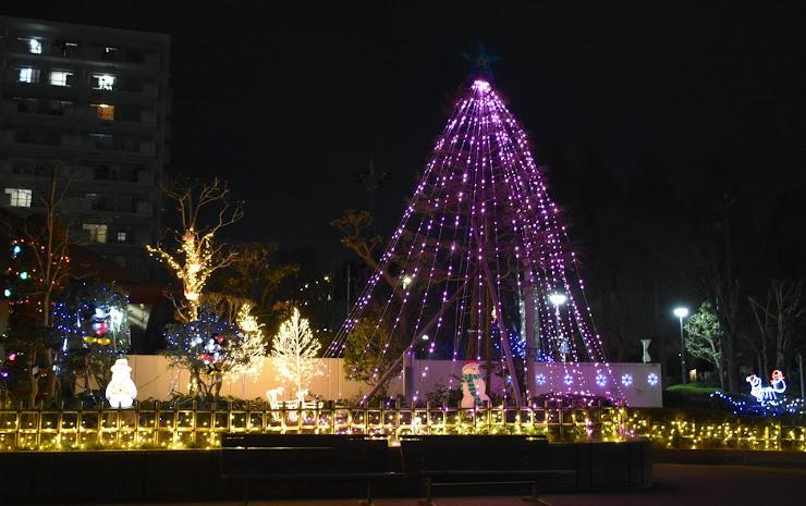 と或るマンションのクリスマス・イルミネーション