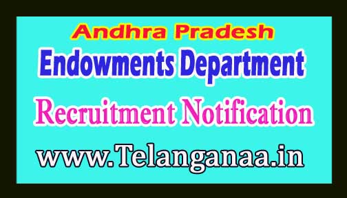 AP Endowments Department Recruitment Notification 2017