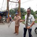 Tali Seling Jembatan Gantung Binjai Lepas, Warga Dilarang Melintas