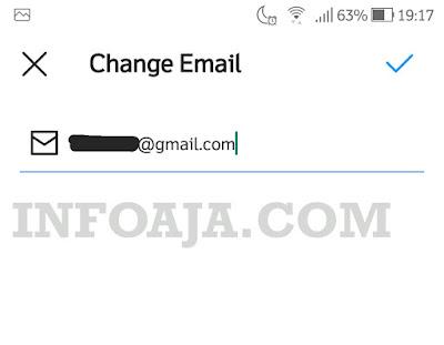 mengganti email instagram