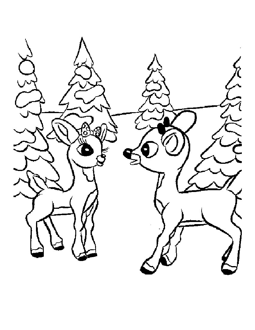 rudolph christmas coloring pages - photo#2