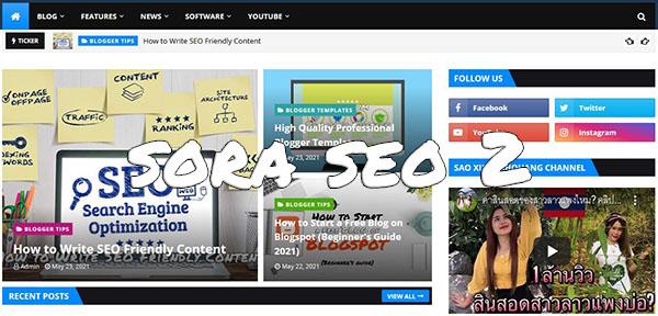 Sora Seo 2 Blogger Template