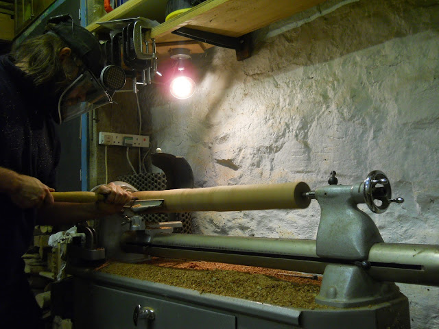Woodturning on Myford ML8 lathe