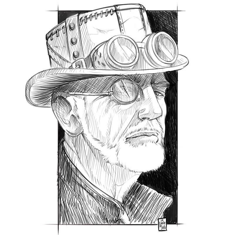 12-Steampunk-portrait-Sebastien-Drillon-www-designstack-co