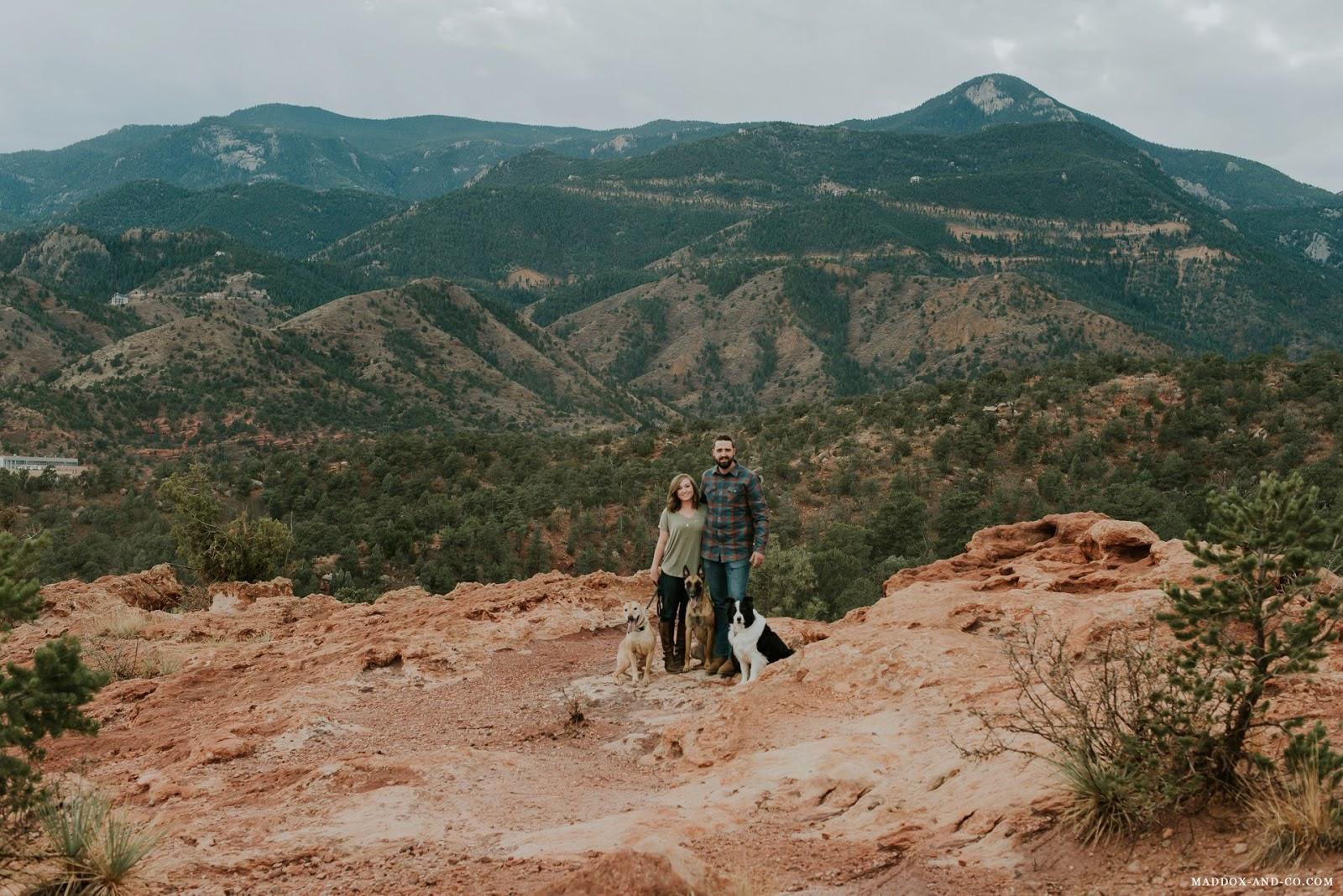 Take me to the Mountains | Wilson Couple | Garden of the Gods Photographer