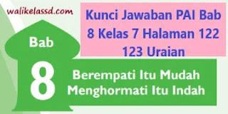 Kunci Jawaban PAI Bab 8 Kelas 7 Halaman 122 123 Uraian