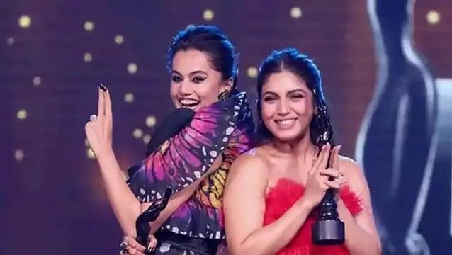 Tapsee Pannu Bhoomi Pednekar in 65th Filmfare Awards 2020 Saand Ki Aankh Bollywood Movie