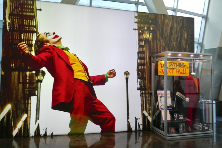 Joker movie costume prop exhibit
