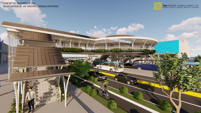 EDSA Busway Bridge with Concourse