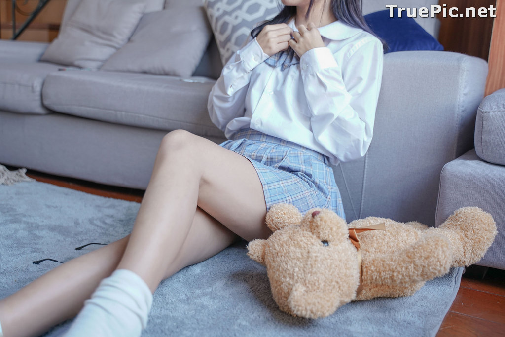 Image [MTCos] 喵糖映画 Vol.047 – Chinese Cute Model – Sexy Student Uniform - TruePic.net - Picture-13