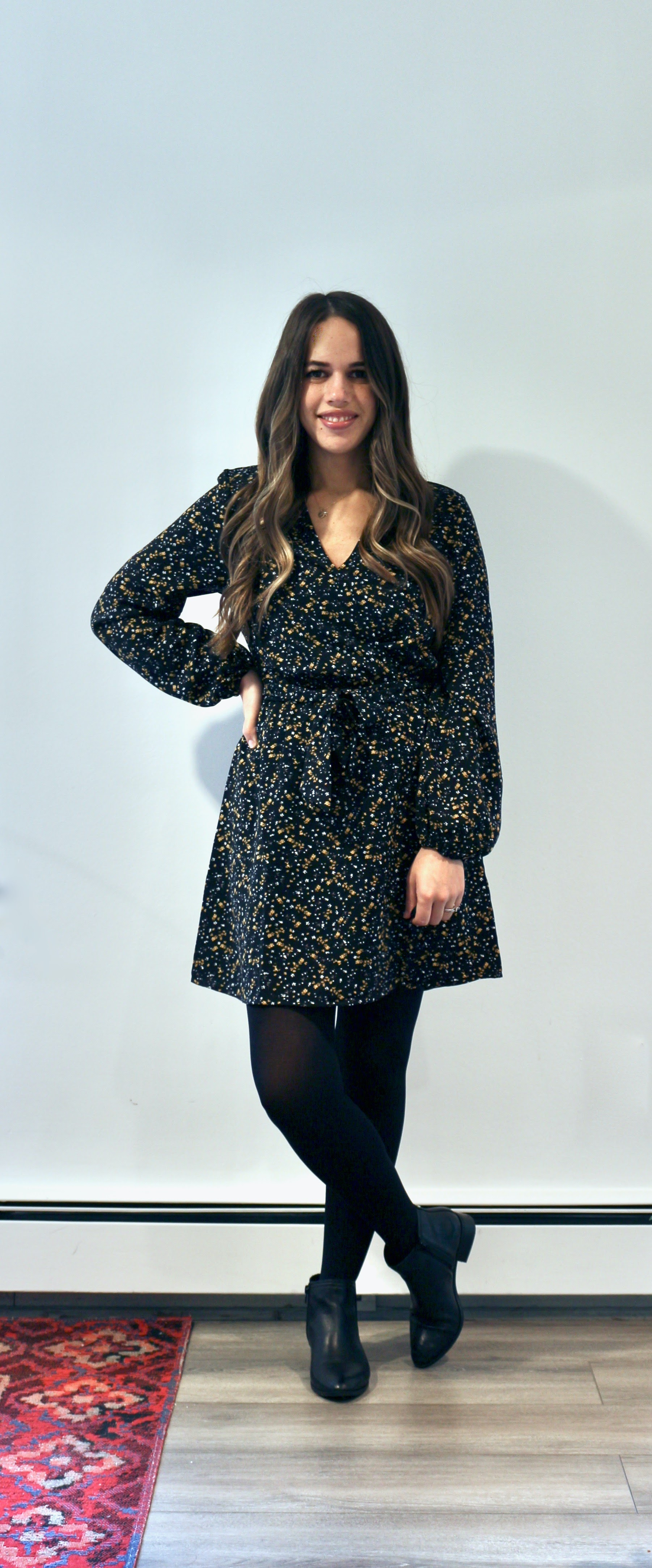 Jules in Flats - Long Sleeve Wrap Dress (Business Casual Workwear on a Budget)