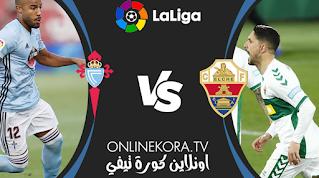 مشاهدة مباراة سيلتا فيغو وإلتشي بث مباشر اليوم 12-02-2021 في الدوري الإسباني