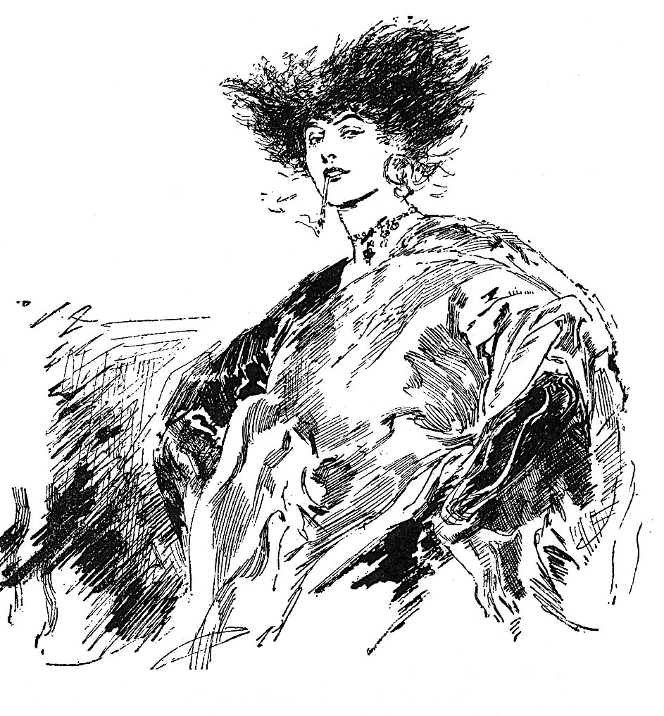 a Joseph Clement Coll illustration of a strong woman