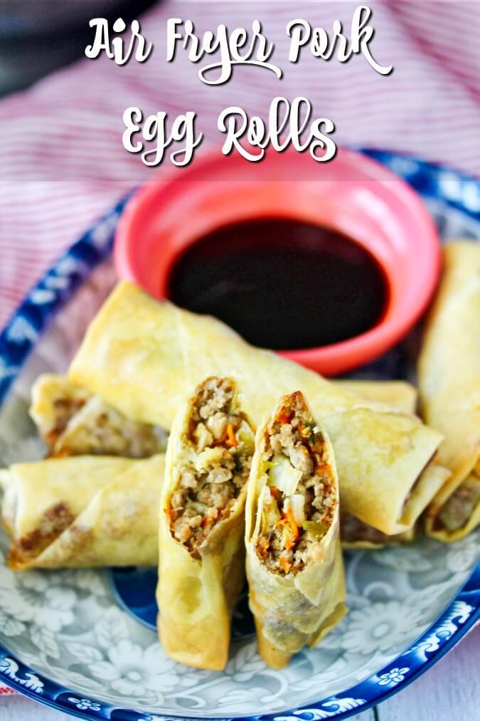 Air Fryer Pork and Vegetable Spring Roll appetizers