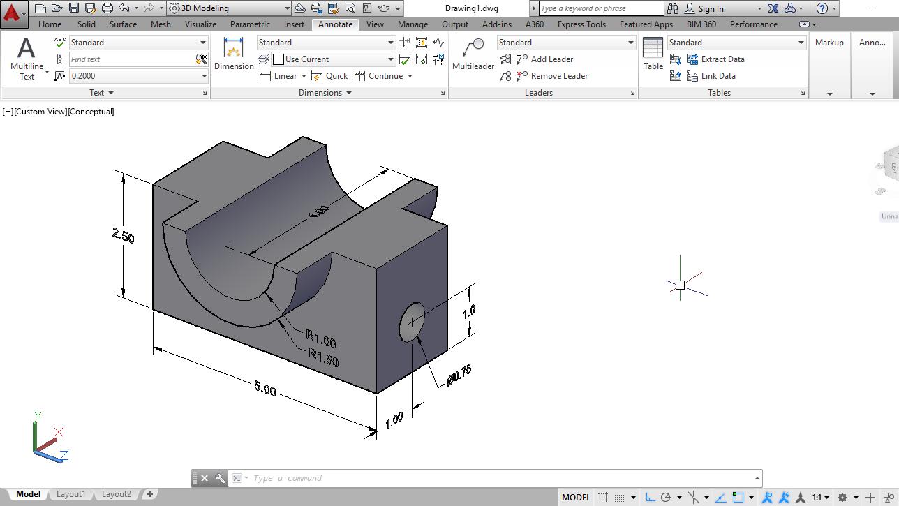 Desaincad Cara Memberi Dimensi Ukuran Gambar 3 Dimensi Di Autocad