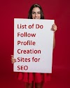 177 + High PR Do Follow Profile Creation Sites And Blog Commenting Sites For SEO