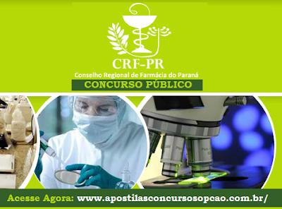Apostila Concurso Conselho Regional de Farmácia do Paraná - CRF-PR Assistente Administrativo, Grátis CD.