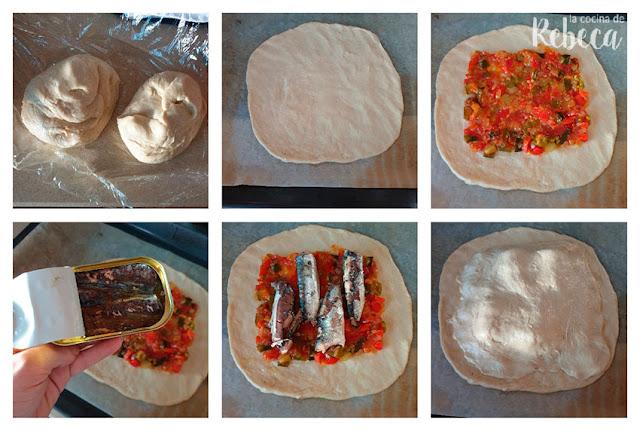 Receta de empanada de sardinillas: montaje