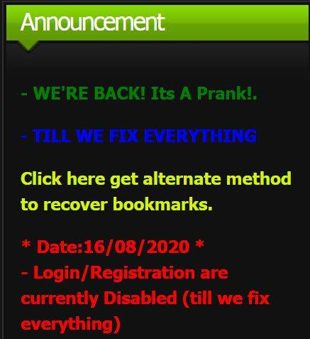 One of the fake KissAnime clones claiming the site is back