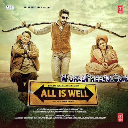 Poster Of Bollywood Movie All Is Well (2015) 350MB Compressed Small Size Pc Movie Free Download worldfree4u.com