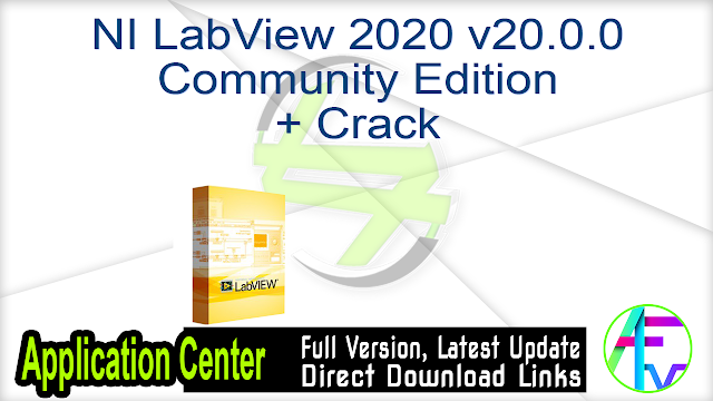 NI LabView 2020 v20.0.0 Community Edition + Crack