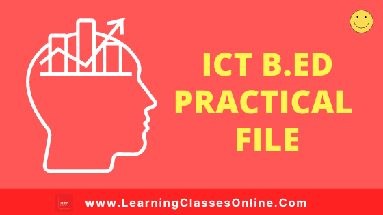 Critical Understanding of ICT in Education B.Ed 1st and 2nd Year / All Courses Practical File, Project and Assignment Notes in English Medium Free Download PDF | ICT File | Critical Understanding of ICT in Education B.Ed First and Second Year Practical File in English Medium Free Download PDF | ICT Notes, Files, Assignment, Project and Text Book in English
