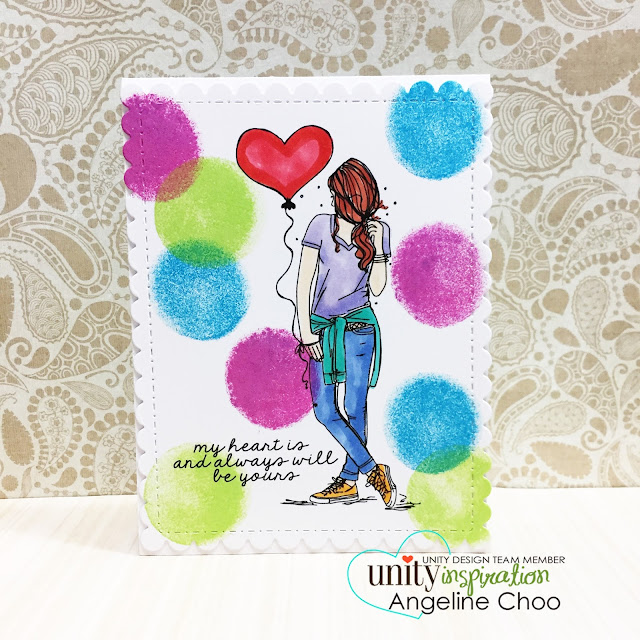 ScrappyScrappy: Angela's Birthday Celebration with Unity Stamp - Bryna Girl #scrappyscrappy #unitystampco #papercraft #card #cardmaking #stamp #stamping #handmade #handmadecard #distressink #distress #timholtz #copic #quicktipvideo #youtube #video