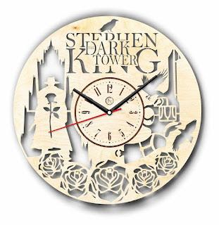 Stephen King Dark Tower Natural Wood Wall Clock, Stephen King Home Accessories, Stephen King Store
