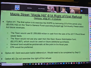 Maple Hill 'right of first refusal' recommendation is to purchase