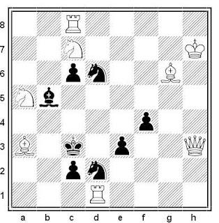 Problema de mate en 2 compuesto por Johannes J. Rietveld (2º Premio, Finlande - Pays Bas 1939)