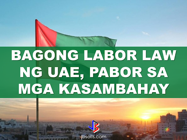 "In the United Arab Emirates, There are over 750,000 household workers mostly from the Philippines. Among 65%  lives in Abu Dhabi, Dubai and, Sharjah. UAE Law is going to provide special rights for the workers that have been already approved by the UAE Cabinet and signed to be a full pledged law by His Highness Shaikh Khalifa Bin Zayed Al Nahyan which includes 30 days annual leave with full pay, a weekly day off, daily rest at least 12 Hours, 8 hours of work and most important the right to keep original passport, Emirates ID or work permit. {EMBED VIDEO 1 HERE NOW!} The new Law also states that recruitment agencies have to ensure that domestic workers are made aware of the terms and conditions of their employment and their every right even before their deployment. This should include the nature of work, the workplace, the remuneration and the duration of daily and weekly off. The previous categories of the domestic workers are Maid, Household farmer, and Family Chauffeur.  The new law has defined domestic workers into the following categories: Housemaids  Private Sailor  Watchman Security Guards Household Shepherd Family Chauffeur  Household Horse Groomer Household Falcon Trainer  Domestic Labours  Housekeepers Private Coach Private Teacher Babysitter Household Farmer Private Nurse Private PRO  Private Agriculture engineer   Here are the new law crafted by UAE lawmakers  and to  be implemented by the UAE government this year:                            The new labor law, if fully implemented, will improve the condition of thousands of domestic workers including the OFWs. it will be even better if it will be adopted by the neighboring GCC countries like Saudi Arabia and Kuwait where numerous cases of abuse and maltreatment happen every day. Recommended:  Starting this August, the Land Transportation Office (LTO) will possibly release the driver's license with validity of 5 years as President Duterte earlier promised.  LTO Chief Ed Galvante said, LTO started the renewal of driver's license with a validity of 5 years since last year but due to the delay of the supply of the plastic cards, they are only able to issue receipts. The LTO is optimistic that the plastic cards will be available on the said month.  Meanwhile, the LTO Chief has uttered support to the program of the Land Transportation Franchising and Regulatory Board (LTFRB) which is the establishment of the Driver's Academy which will begin this month  Public Utility Drivers will be required to attend the one to two days classes. At the academy, they will learn the traffic rules and regulations, LTFRB policies, and they will also be taught on how to avoid road rage. Grab and Uber drivers will also be required to undergo the same training.  LTFRB board member Aileen Lizada said that they will conduct an exam after the training and if the drivers passed, they will be given an ID Card.  The list of the passers will be then listed to their database. The operators will be able to check the status of the drivers they are hiring. Recommended:    Transfer to other employer   An employer can grant a written permission to his employees to work with another employer for a period of six months, renewable for a similar period.  Part time jobs are now allowed   Employees can take up part time job with another employer, with a written approval from his original employer, the Ministry of Interior said yesterday.   Staying out of Country, still can come back?  Expatriates staying out of the country for more than six months can re-enter the country with a ""return visa"", within a year, if they hold a Qatari residency permit (RP) and after paying the fine.    Newborn RP possible A newborn baby can get residency permit within 90 days from the date of birth or the date of entering the country, if the parents hold a valid Qatari RP.  No medical check up Anyone who enters the country on a visit visa or for other purposes are not required to undergo the mandatory medical check-up if they stay for a period not more than 30 days. Foreigners are not allowed to stay in the country after expiry of their visa if not renewed.   E gates for all  Expatriates living in Qatar can leave and enter the country using their Qatari IDs through the e-gates.  Exit Permit Grievances Committee According to Law No 21 of 2015 regulating entry, exit and residency of expatriates, which was enforced on December 13, last year, expatriate worker can leave the country immediately after his employer inform the competent authorities about his consent for exit. In case the employer objected, the employee can lodge a complaint with the Exit Permit Grievances Committee which will take a decision within three working days.  Change job before or after contract , complete freedom  Expatriate worker can change his job before the end of his work contract with or without the consent of his employer, if the contract period ended or after five years if the contract is open ended. With approval from the competent authority, the worker also can change his job if the employer died or the company vanished for any reason.   Three months for RP process  The employer must process the RP of his employees within 90 days from the date of his entry to the country.  Expat must leave within 90 days of visa expiry The employer must return the travel document (passport) to the employee after finishing the RP formalities unless the employee makes a written request to keep it with the employer. The employer must report to the authorities concerned within 24 hours if the worker left his job, refused to leave the country after cancellation of his RP, passed three months since its expiry or his visit visa ended.  If the visa or residency permit becomes invalid the expat needs to leave the country within 90 days from the date of its expiry. The expat must not violate terms and the purpose for which he/she has been granted the residency permit and should not work with another employer without permission of his original employer. In case of a dispute the Interior Minister or his representative has the right to allow an expatriate worker to work with another employer temporarily with approval from the Ministry of Administrative Development,Labour and Social Affairs. Source:qatarday.com Recommended:      The Barangay Micro Business Enterprise Program (BMBE) or Republic Act No. 9178 of the Department of Trade and Industry (DTI) started way back 2002 which aims to help people to start their small business by providing them incentives and other benefits.  If you have a small business that belongs to manufacturing, production, processing, trading and services with assets not exceeding P3 million you can benefit from BMBE Program of the government.  Benefits include:  Income tax exemption from income arising from the operations of the enterprise;   Exemption from the coverage of the Minimum Wage Law (BMBE 1) 2) 3) 2 employees will still receive the same social security and health care benefits as other employees);   Priority to a special credit window set up specifically for the financing requirements of BMBEs; and  Technology transfer, production and management training, and marketing assistance programs for BMBE beneficiaries.  Gina Lopez Confirmation as DENR Secretary Rejected; Who Voted For Her and Who Voted Against?   ©2017 THOUGHTSKOTO www.jbsolis.com SEARCH JBSOLIS   The Barangay Micro Business Enterprise Program (BMBE) or Republic Act No. 9178 of the Department of Trade and Industry (DTI) started way back 2002 which aims to help people to start their small business by providing them incentives and other benefits.  If you have a small business that belongs to manufacturing, production, processing, trading and services with assets not exceeding P3 million you can benefit from BMBE Program of the government.   Benefits include: Income tax exemption from income arising from the operations of the enterprise;   Exemption from the coverage of the Minimum Wage Law (BMBE 1) 2) 3) 2 employees will still receive the same social security and health care benefits as other employees);   Priority to a special credit window set up specifically for the financing requirements of BMBEs; and  Technology transfer, production and management training, and marketing assistance programs for BMBE beneficiaries.  Gina Lopez Confirmation as DENR Secretary Rejected; Who Voted For Her and Who Voted Against? Transfer to other employer   An employer can grant a written permission to his employees to work with another employer for a period of six months, renewable for a similar period.  Part time jobs are now allowed   Employees can take up part time job with another employer, with a written approval from his original employer, the Ministry of Interior said yesterday.   Staying out of Country, still can come back?  Expatriates staying out of the country for more than six months can re-enter the country with a ""return visa"", within a year, if they hold a Qatari residency permit (RP) and after paying the fine.    Newborn RP possible A newborn baby can get residency permit within 90 days from the date of birth or the date of entering the country, if the parents hold a valid Qatari RP.  No medical check up Anyone who enters the country on a visit visa or for other purposes are not required to undergo the mandatory medical check-up if they stay for a period not more than 30 days. Foreigners are not allowed to stay in the country after expiry of their visa if not renewed.   E gates for all  Expatriates living in Qatar can leave and enter the country using their Qatari IDs through the e-gates.  Exit Permit Grievances Committee According to Law No 21 of 2015 regulating entry, exit and residency of expatriates, which was enforced on December 13, last year, expatriate worker can leave the country immediately after his employer inform the competent authorities about his consent for exit. In case the employer objected, the employee can lodge a complaint with the Exit Permit Grievances Committee which will take a decision within three working days.  Change job before or after contract , complete freedom  Expatriate worker can change his job before the end of his work contract with or without the consent of his employer, if the contract period ended or after five years if the contract is open ended. With approval from the competent authority, the worker also can change his job if the employer died or the company vanished for any reason.   Three months for RP process  The employer must process the RP of his employees within 90 days from the date of his entry to the country.  Expat must leave within 90 days of visa expiry The employer must return the travel document (passport) to the employee after finishing the RP formalities unless the employee makes a written request to keep it with the employer. The employer must report to the authorities concerned within 24 hours if the worker left his job, refused to leave the country after cancellation of his RP, passed three months since its expiry or his visit visa ended.  If the visa or residency permit becomes invalid the expat needs to leave the country within 90 days from the date of its expiry. The expat must not violate terms and the purpose for which he/she has been granted the residency permit and should not work with another employer without permission of his original employer. In case of a dispute the Interior Minister or his representative has the right to allow an expatriate worker to work with another employer temporarily with approval from the Ministry of Administrative Development,Labour and Social Affairs. Source:qatarday.com Recommended:      The Barangay Micro Business Enterprise Program (BMBE) or Republic Act No. 9178 of the Department of Trade and Industry (DTI) started way back 2002 which aims to help people to start their small business by providing them incentives and other benefits.  If you have a small business that belongs to manufacturing, production, processing, trading and services with assets not exceeding P3 million you can benefit from BMBE Program of the government.  Benefits include:  Income tax exemption from income arising from the operations of the enterprise;   Exemption from the coverage of the Minimum Wage Law (BMBE 1) 2) 3) 2 employees will still receive the same social security and health care benefits as other employees);   Priority to a special credit window set up specifically for the financing requirements of BMBEs; and  Technology transfer, production and management training, and marketing assistance programs for BMBE beneficiaries.  Gina Lopez Confirmation as DENR Secretary Rejected; Who Voted For Her and Who Voted Against?   ©2017 THOUGHTSKOTO www.jbsolis.com SEARCH JBSOLIS  ©2017 THOUGHTSKOTO www.jbsolis.com SEARCH JBSOLIS Starting this August, the Land Transportation Office (LTO) will possibly release the driver's license with validity of 5 years as President Duterte earlier promised.  LTO Chief Ed Galvante said, LTO started the renewal of driver's license with a validity of 5 years since last year but due to the delay of the supply of the plastic cards, they are only able to issue receipts. The LTO is optimistic that the plastic cards will be available on the said month.       Transfer to other employer   An employer can grant a written permission to his employees to work with another employer for a period of six months, renewable for a similar period.  Part time jobs are now allowed   Employees can take up part time job with another employer, with a written approval from his original employer, the Ministry of Interior said yesterday.   Staying out of Country, still can come back?  Expatriates staying out of the country for more than six months can re-enter the country with a ""return visa"", within a year, if they hold a Qatari residency permit (RP) and after paying the fine.    Newborn RP possible A newborn baby can get residency permit within 90 days from the date of birth or the date of entering the country, if the parents hold a valid Qatari RP.  No medical check up Anyone who enters the country on a visit visa or for other purposes are not required to undergo the mandatory medical check-up if they stay for a period not more than 30 days. Foreigners are not allowed to stay in the country after expiry of their visa if not renewed.   E gates for all  Expatriates living in Qatar can leave and enter the country using their Qatari IDs through the e-gates.  Exit Permit Grievances Committee According to Law No 21 of 2015 regulating entry, exit and residency of expatriates, which was enforced on December 13, last year, expatriate worker can leave the country immediately after his employer inform the competent authorities about his consent for exit. In case the employer objected, the employee can lodge a complaint with the Exit Permit Grievances Committee which will take a decision within three working days.  Change job before or after contract , complete freedom  Expatriate worker can change his job before the end of his work contract with or without the consent of his employer, if the contract period ended or after five years if the contract is open ended. With approval from the competent authority, the worker also can change his job if the employer died or the company vanished for any reason.   Three months for RP process  The employer must process the RP of his employees within 90 days from the date of his entry to the country.  Expat must leave within 90 days of visa expiry The employer must return the travel document (passport) to the employee after finishing the RP formalities unless the employee makes a written request to keep it with the employer. The employer must report to the authorities concerned within 24 hours if the worker left his job, refused to leave the country after cancellation of his RP, passed three months since its expiry or his visit visa ended.  If the visa or residency permit becomes invalid the expat needs to leave the country within 90 days from the date of its expiry. The expat must not violate terms and the purpose for which he/she has been granted the residency permit and should not work with another employer without permission of his original employer. In case of a dispute the Interior Minister or his representative has the right to allow an expatriate worker to work with another employer temporarily with approval from the Ministry of Administrative Development,Labour and Social Affairs. Source:qatarday.com Recommended:      The Barangay Micro Business Enterprise Program (BMBE) or Republic Act No. 9178 of the Department of Trade and Industry (DTI) started way back 2002 which aims to help people to start their small business by providing them incentives and other benefits.  If you have a small business that belongs to manufacturing, production, processing, trading and services with assets not exceeding P3 million you can benefit from BMBE Program of the government.  Benefits include:  Income tax exemption from income arising from the operations of the enterprise;   Exemption from the coverage of the Minimum Wage Law (BMBE 1) 2) 3) 2 employees will still receive the same social security and health care benefits as other employees);   Priority to a special credit window set up specifically for the financing requirements of BMBEs; and  Technology transfer, production and management training, and marketing assistance programs for BMBE beneficiaries.  Gina Lopez Confirmation as DENR Secretary Rejected; Who Voted For Her and Who Voted Against?   ©2017 THOUGHTSKOTO www.jbsolis.com SEARCH JBSOLIS  The Barangay Micro Business Enterprise Program (BMBE) or Republic Act No. 9178 of the Department of Trade and Industry (DTI) started way back 2002 which aims to help people to start their small business by providing them incentives and other benefits.  If you have a small business that belongs to manufacturing, production, processing, trading and services with assets not exceeding P3 million you can benefit from BMBE Program of the government.  Benefits include: Income tax exemption from income arising from the operations of the enterprise;   Exemption from the coverage of the Minimum Wage Law (BMBE 1) 2) 3) 2 employees will still receive the same social security and health care benefits as other employees);   Priority to a special credit window set up specifically for the financing requirements of BMBEs; and  Technology transfer, production and management training, and marketing assistance programs for BMBE beneficiaries.  Gina Lopez Confirmation as DENR Secretary Rejected; Who Voted For Her and Who Voted Against? Transfer to other employer   An employer can grant a written permission to his employees to work with another employer for a period of six months, renewable for a similar period.  Part time jobs are now allowed   Employees can take up part time job with another employer, with a written approval from his original employer, the Ministry of Interior said yesterday.   Staying out of Country, still can come back?  Expatriates staying out of the country for more than six months can re-enter the country with a ""return visa"", within a year, if they hold a Qatari residency permit (RP) and after paying the fine.    Newborn RP possible A newborn baby can get residency permit within 90 days from the date of birth or the date of entering the country, if the parents hold a valid Qatari RP.  No medical check up Anyone who enters the country on a visit visa or for other purposes are not required to undergo the mandatory medical check-up if they stay for a period not more than 30 days. Foreigners are not allowed to stay in the country after expiry of their visa if not renewed.   E gates for all  Expatriates living in Qatar can leave and enter the country using their Qatari IDs through the e-gates.  Exit Permit Grievances Committee According to Law No 21 of 2015 regulating entry, exit and residency of expatriates, which was enforced on December 13, last year, expatriate worker can leave the country immediately after his employer inform the competent authorities about his consent for exit. In case the employer objected, the employee can lodge a complaint with the Exit Permit Grievances Committee which will take a decision within three working days.  Change job before or after contract , complete freedom  Expatriate worker can change his job before the end of his work contract with or without the consent of his employer, if the contract period ended or after five years if the contract is open ended. With approval from the competent authority, the worker also can change his job if the employer died or the company vanished for any reason.   Three months for RP process  The employer must process the RP of his employees within 90 days from the date of his entry to the country.  Expat must leave within 90 days of visa expiry The employer must return the travel document (passport) to the employee after finishing the RP formalities unless the employee makes a written request to keep it with the employer. The employer must report to the authorities concerned within 24 hours if the worker left his job, refused to leave the country after cancellation of his RP, passed three months since its expiry or his visit visa ended.  If the visa or residency permit becomes invalid the expat needs to leave the country within 90 days from the date of its expiry. The expat must not violate terms and the purpose for which he/she has been granted the residency permit and should not work with another employer without permission of his original employer. In case of a dispute the Interior Minister or his representative has the right to allow an expatriate worker to work with another employer temporarily with approval from the Ministry of Administrative Development,Labour and Social Affairs. Source:qatarday.com Recommended:      The Barangay Micro Business Enterprise Program (BMBE) or Republic Act No. 9178 of the Department of Trade and Industry (DTI) started way back 2002 which aims to help people to start their small business by providing them incentives and other benefits.  If you have a small business that belongs to manufacturing, production, processing, trading and services with assets not exceeding P3 million you can benefit from BMBE Program of the government.  Benefits include:  Income tax exemption from income arising from the operations of the enterprise;   Exemption from the coverage of the Minimum Wage Law (BMBE 1) 2) 3) 2 employees will still receive the same social security and health care benefits as other employees);   Priority to a special credit window set up specifically for the financing requirements of BMBEs; and  Technology transfer, production and management training, and marketing assistance programs for BMBE beneficiaries.  Gina Lopez Confirmation as DENR Secretary Rejected; Who Voted For Her and Who Voted Against?   ©2017 THOUGHTSKOTO www.jbsolis.com SEARCH JBSOLIS  ©2017 THOUGHTSKOTO www.jbsolis.com SEARCH JBSOLIS"