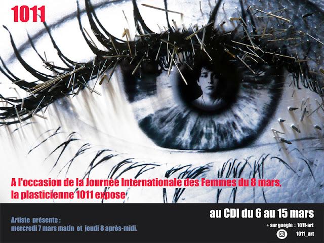 Exposition pour la journée des femmes le 8 mars.