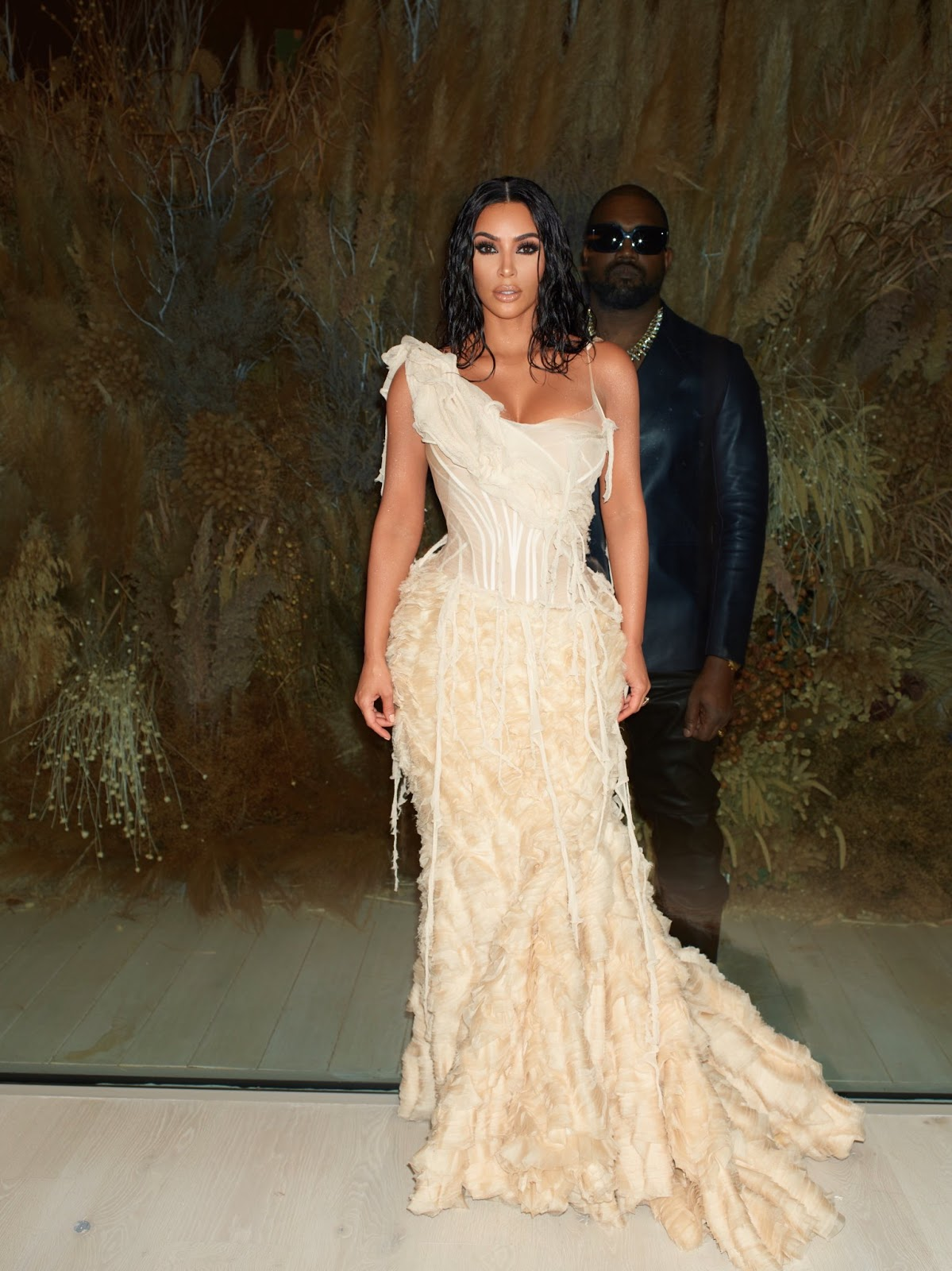 Kim Kardashian and Kanye West Take On the 2020 Oscars in Style