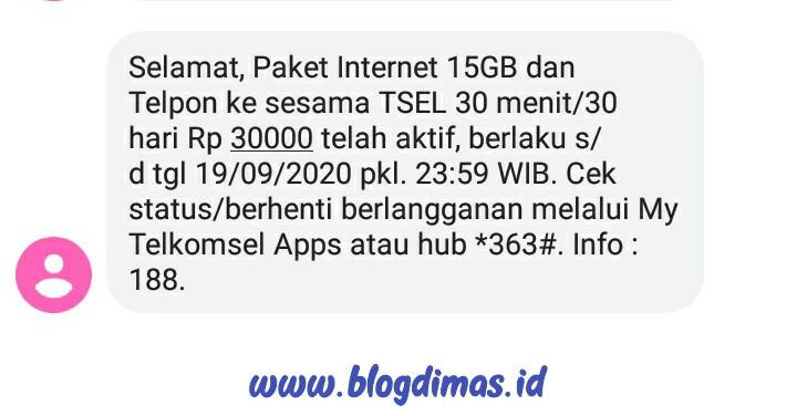 Paket 15GB Telkomsel