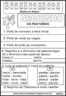 Atividades sobre folclore,Negrinho Pastoreio