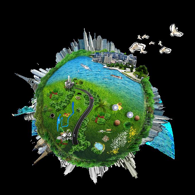 industria de fabricación conservación de energía, tierra ciudad pradera océano tirar material, plantilla de diseño de logo gratis, empresa png by: pngkh.com